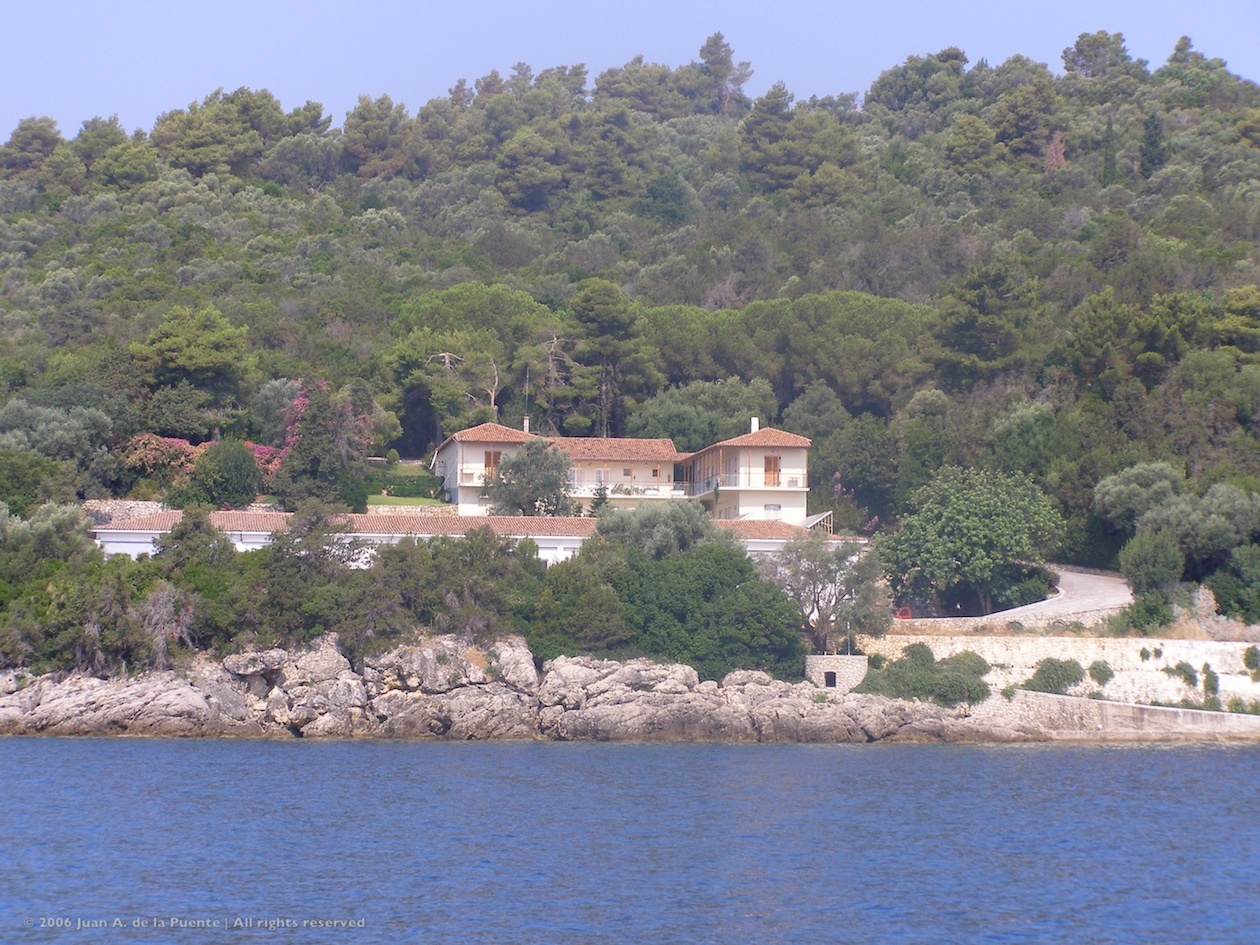 Casa de Onassis en Skorpiós